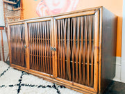 Vintage Philippines Bamboo and Laminate Credenzas