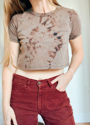 Jockey Cropped Tie Dye Pocket Tee