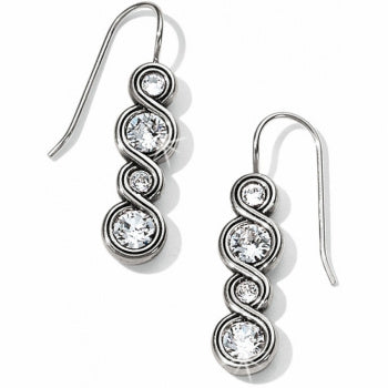 JA1831 Infinity Sparkle French Wire Earrings