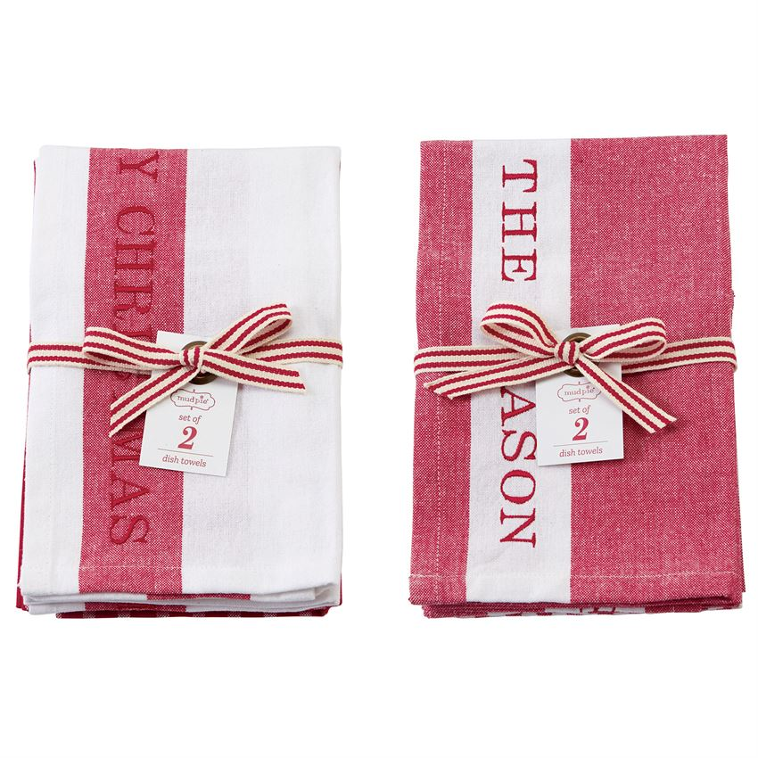 Merry Christmas Dish Towel Set of 2