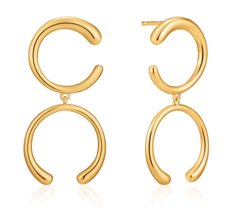 LUXE DOUBLE CURVE EARRING