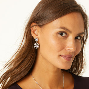 JA4513 Halo Post Drop Earrings
