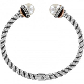 JF665D Neptune's Rings Pearl Open Hinged Bangle