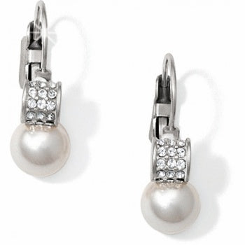 JA1302 Meridian Petite Pearl Leverback Earrings
