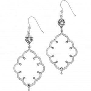JA6191 Journey To India Lotus French Wire Earrings