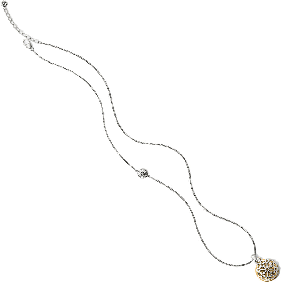 JM1062 Ferrara Two Tone Reversible Long Necklace