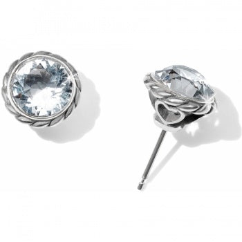 JA173C Crystal Iris Stud Earrings