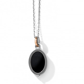 JM194D Neptune's Rings Oval Black Reversible Short Necklace