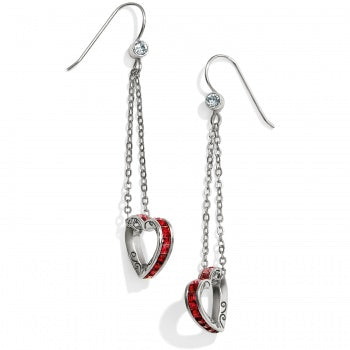 JA4633 Spectrum Petite Red Heart French Wire Earrings