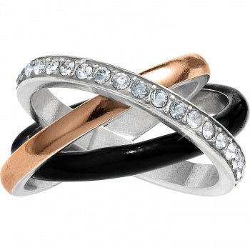 Neptune's Ring Black Trio Ring - 7