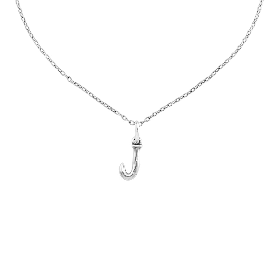 Charm Small J - Silver