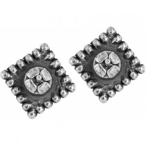 J20602 Sparkle Square Mini Post Earrings