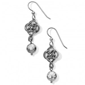 JA4680 Interlok Knot French Wire Earrings