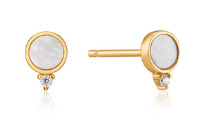 MOTHER OF PEARL STUD EARRING
