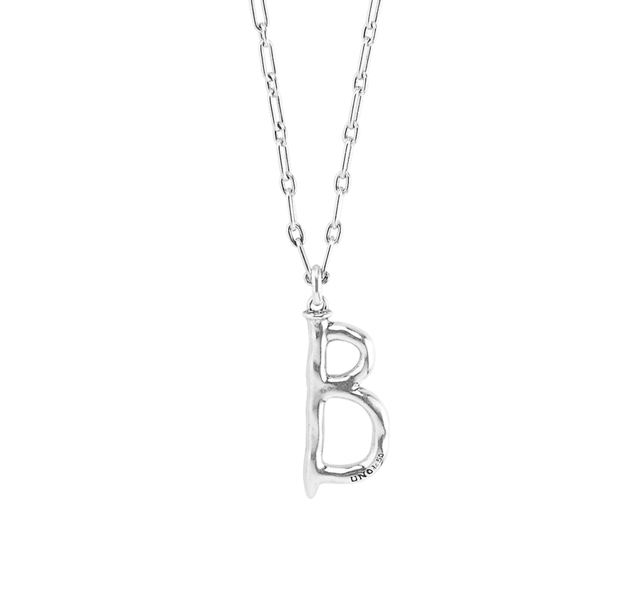 Charm Large B - Silver