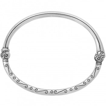 JB1820 Silver Charming Hinged Bangle