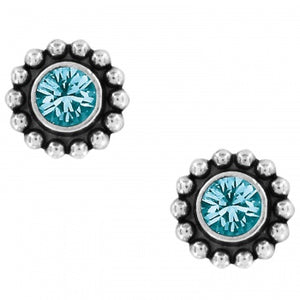 J2049C Twinkle Blue Zircon Mini Post Earrings