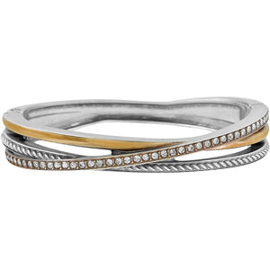 JF2081 Neptune's Rings Narrow Hinged Bangle