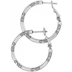 J19520 Small Earring Charm Hoops
