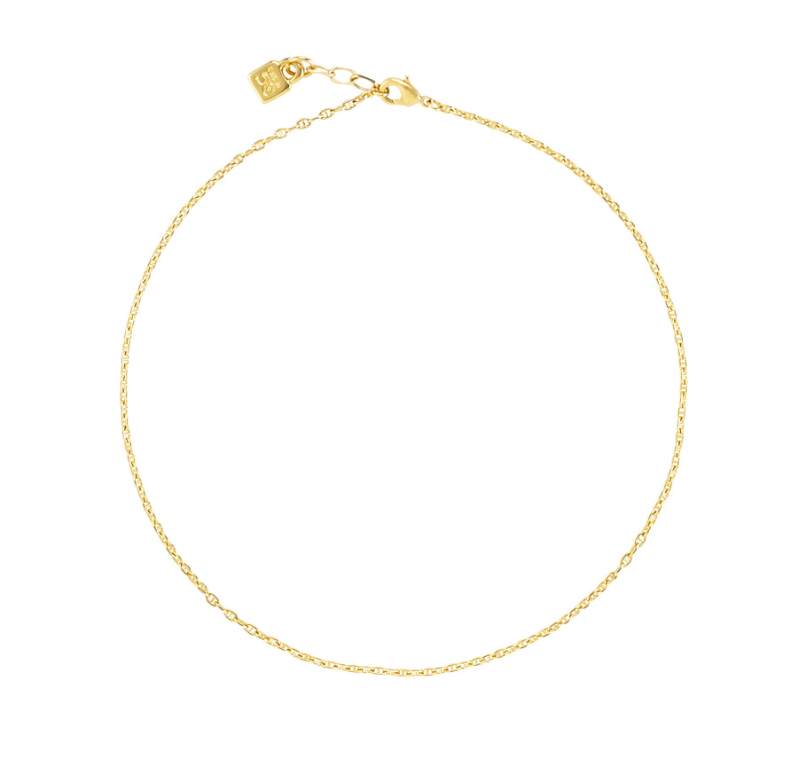 Chain 5 - Short Gold Small Oval Links