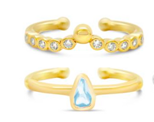 Pretty Little Rings - Halo Tear Drop Stack Boxed - Gold