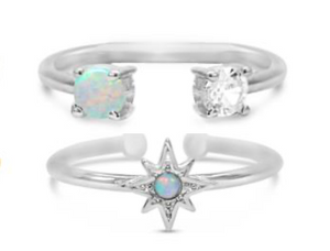 Pretty Little Rings - Celestial Stack Boxed - Silver