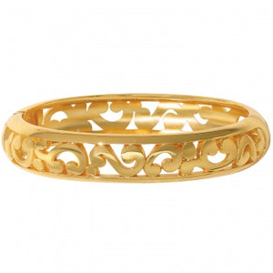 JF0905 Gold Contempo Med Hinged Bangle