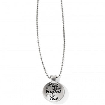 JL7183 Cherished Stars & Moon Petite Necklace