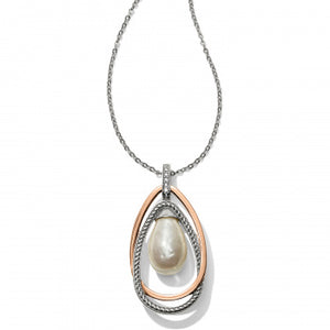 JM118A Neptune's Rings Pearl Pendant Necklace