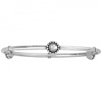 J39172 Silver Twinkle Round Bangle