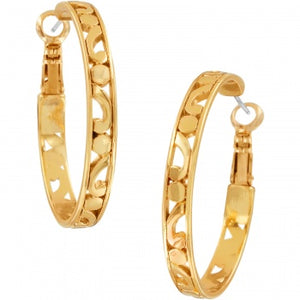 JE9725 Gold Contempo Medium Hoop Earrings