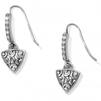 JA3561 Deco Luxe Triangle French Wire Earrings