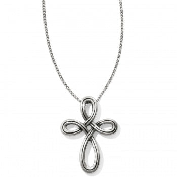 JL8490 Interlok Petite Cross Necklace