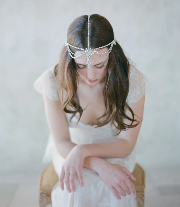 Rhinestone boho headdress