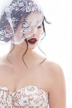 Load image into Gallery viewer, Birdcage Veil in Chantilly Lace