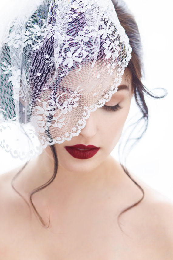 Birdcage Veil in Chantilly Lace