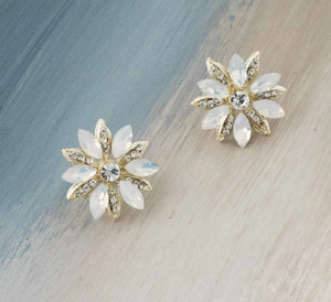 Regal opal starburst earrings