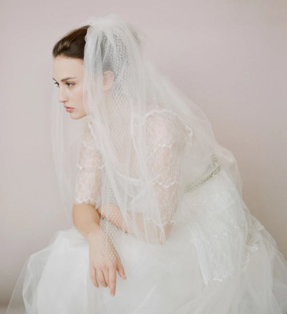 Tulle and Russian elbow veil