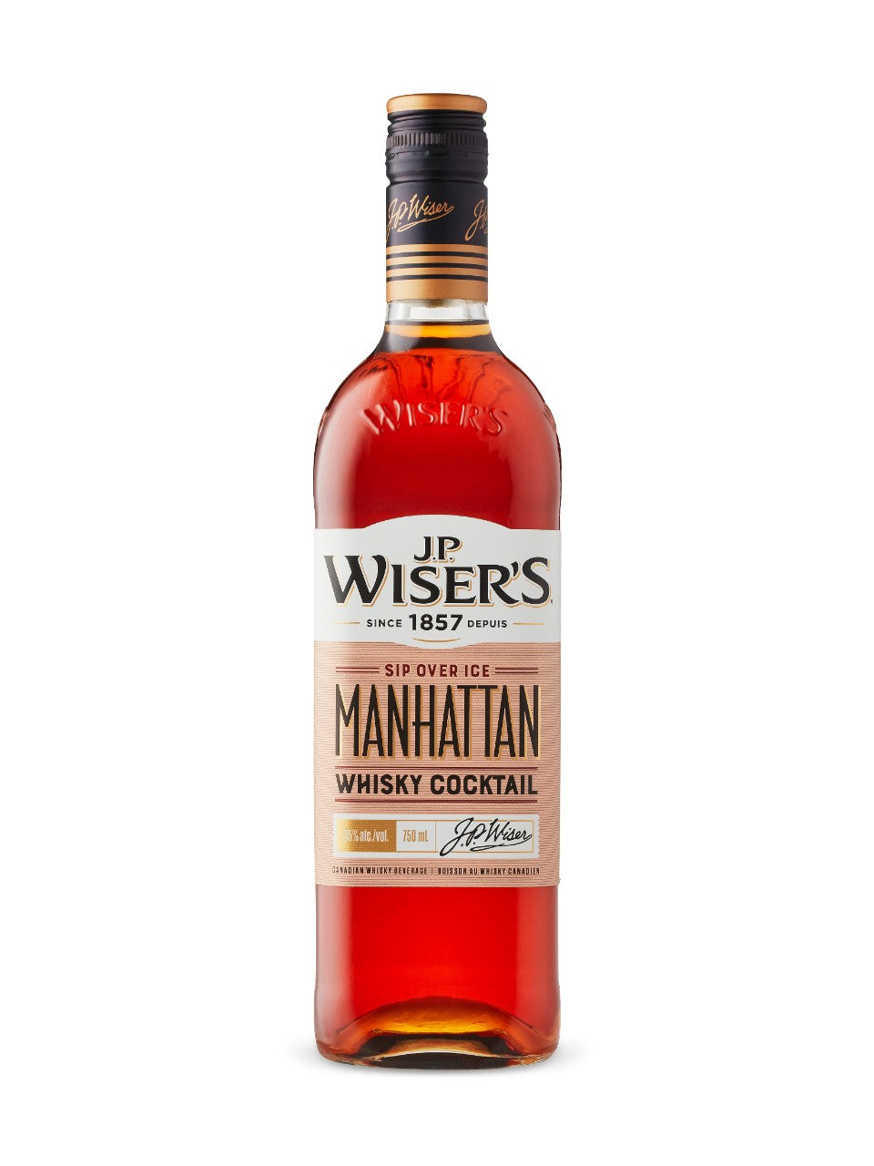 J.P WISER'S MANHATTAN CANADIAN WHISKY