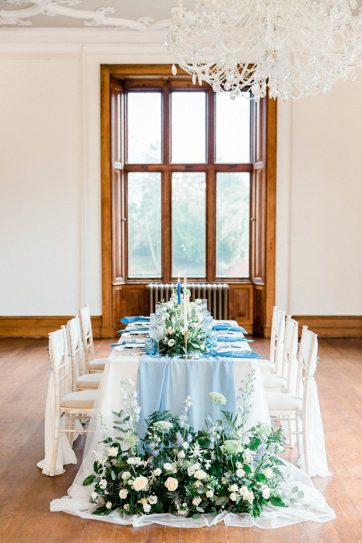 Dusky Blue Styled Shoot at Thicket Priory