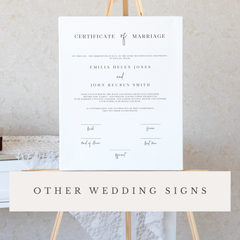 On The Day Wedding Stationery Other Wedding Signs