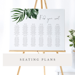 On the Day Stationery Seating Plan