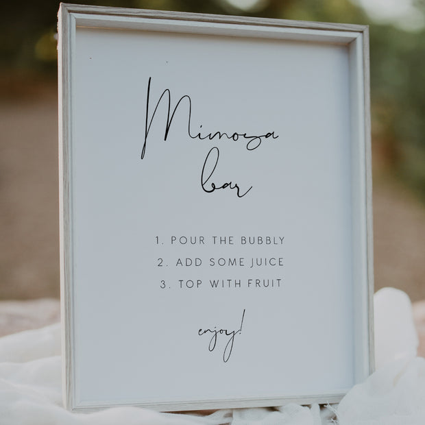 Elegant Mimosa Bar Sign