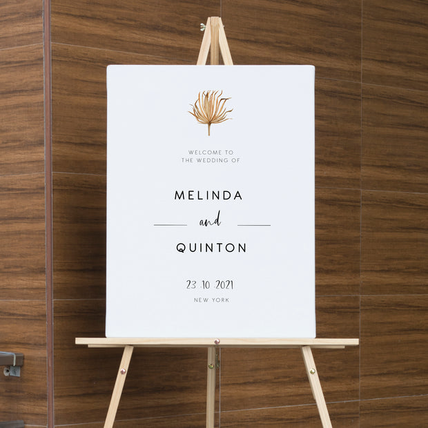 Savanna Pampass Grass Wedding Welcome Sign - MakeMeDigital