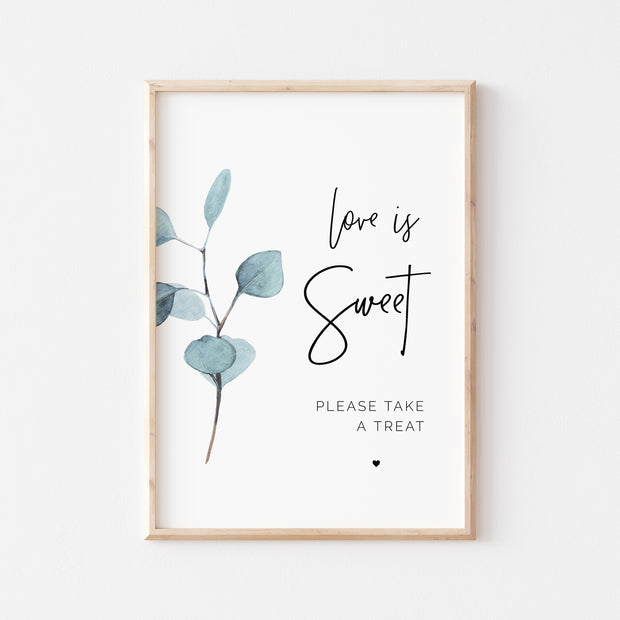 SARA | Eucalyptus Love is Sweet Sign - MakeMeDigital
