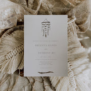 Bohemian Windchime Wedding Invitation