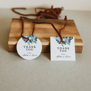 Blue Floral Wedding Thank you Tags