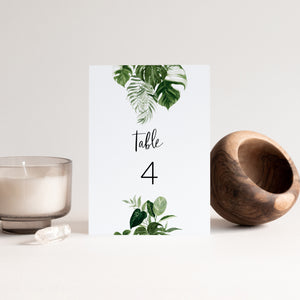Zuri Tropical Table Number - MakeMeDigital