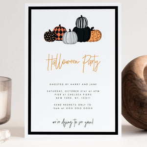 HALLOWEEN | Pumpkin Halloween Party Invite - MakeMeDigital