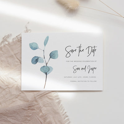 Sara Eucalyptus Save the Date - MakeMeDigital